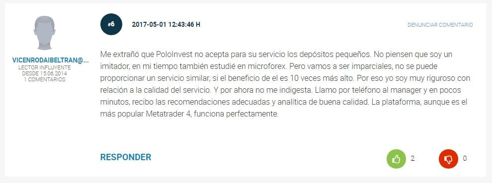 Opiniones y comentarios de Polo Invest